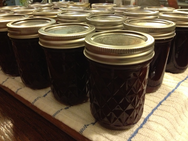 Finished jars cooling down.